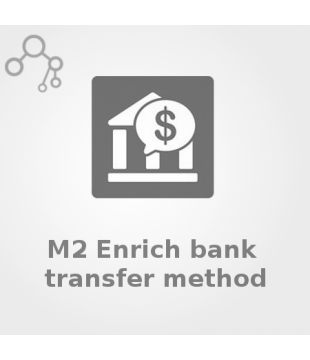 Magento 2 Enrich bank transfer method