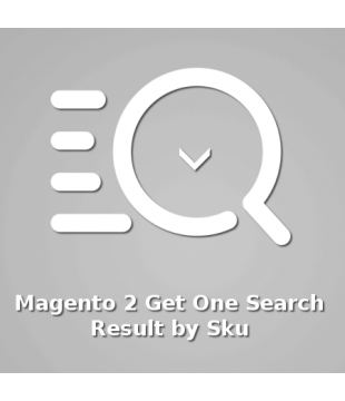 Magento 2 Get One Search  Result by Sku